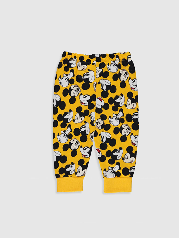 Erkek Bebek Mickey Mouse Baskılı Pijama Takımı