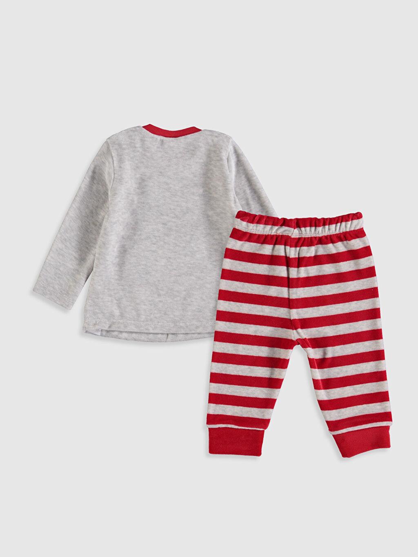 %55 Pamuk %45 Polyester Standart Pijamalar Erkek Bebek Kadife Pijama Takımı