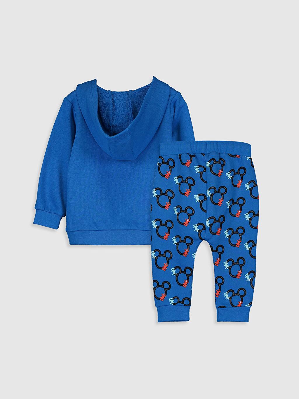 %85 Pamuk %15 Polyester  Erkek Bebek Mickey Mouse Baskılı Eşofman Takımı