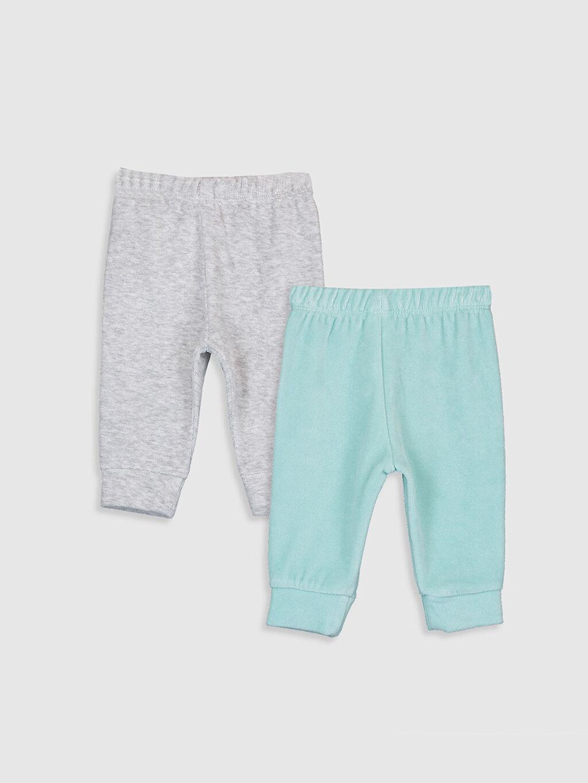 %50 Pamuk %50 Polyester Standart Pijamalar Kız Bebek Kadife Pijama Alt 2'li