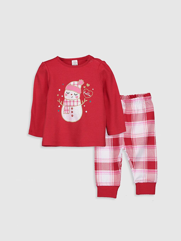 Kırmızı Kız Bebek Pijama Takımı 9W8721Z1 LC Waikiki