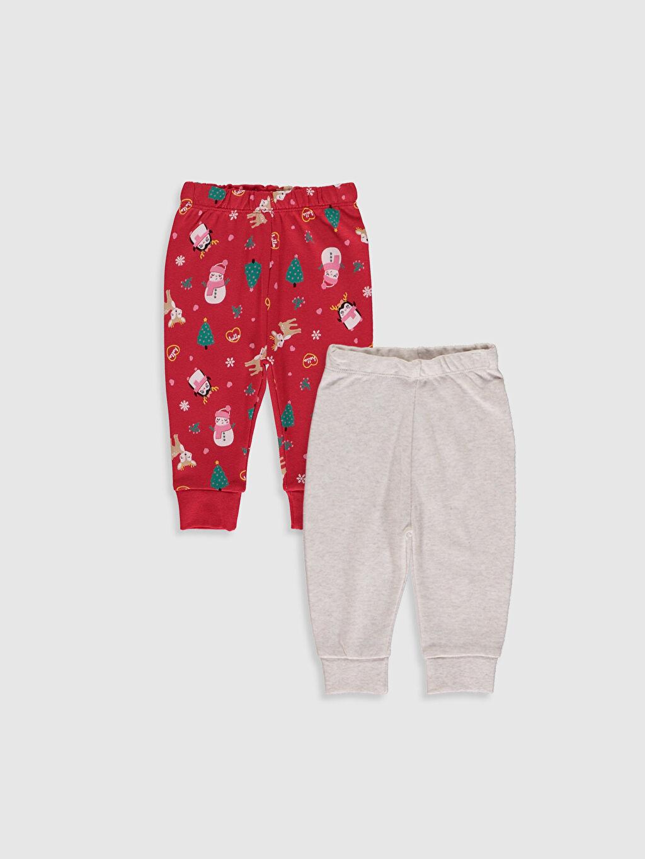 Bej Kız Bebek Pijama Alt 2'li 9W8723Z1 LC Waikiki