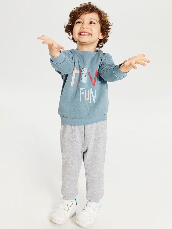 9WG438Z1 Erkek Bebek Swearshirt ve Pantolon