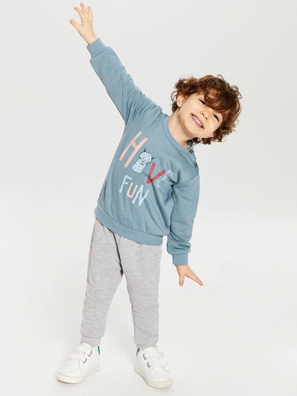 Mavi Erkek Bebek Swearshirt ve Pantolon 9WG438Z1 LC Waikiki