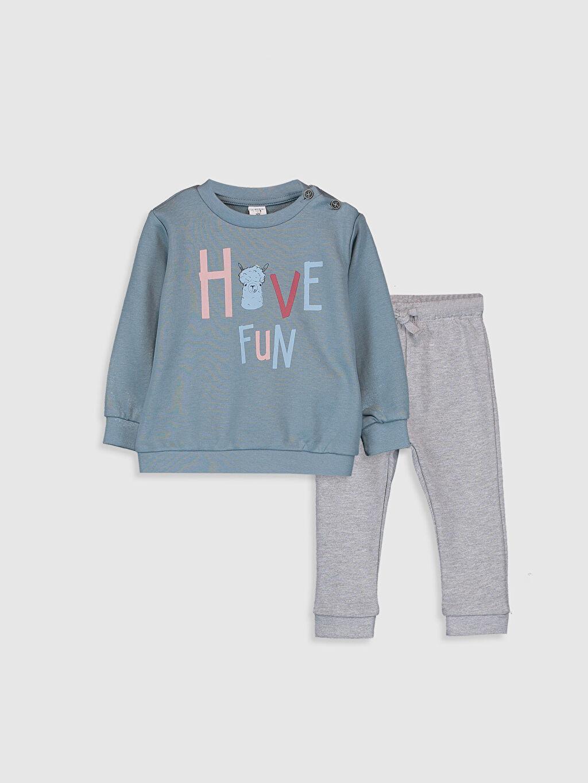 %65 Pamuk %35 Polyester  Erkek Bebek Swearshirt ve Pantolon