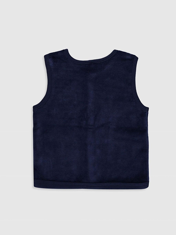 %78 Pamuk %22 Polyester  Erkek Bebek Kadife Yelek