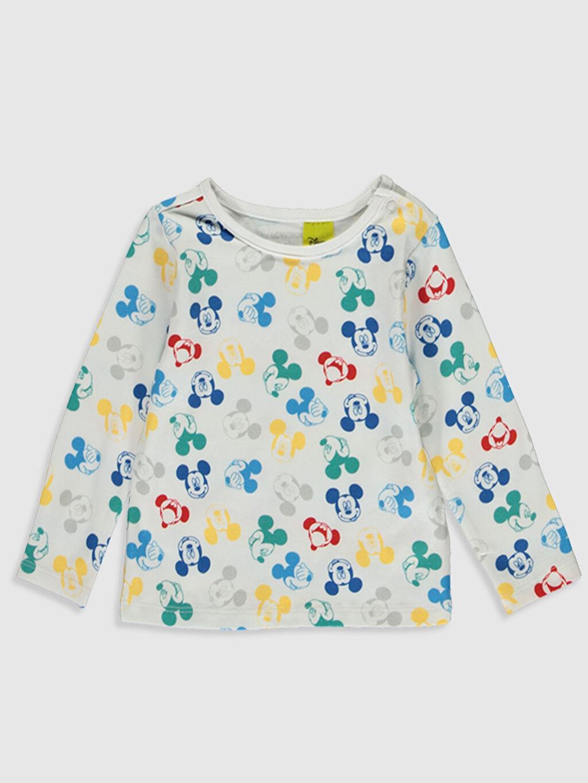 Erkek Bebek Yenidoğan Mickey Mouse Baskılı Tişört 2'li