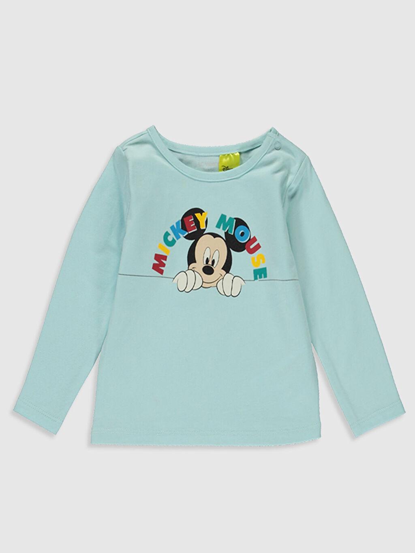 Yenidoğan Mickey Mouse Baskılı Tişört 2'li