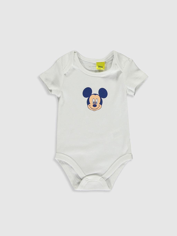 Erkek Bebek Yenidoğan Mickey Mouse Baskılı  Takım 3'lü