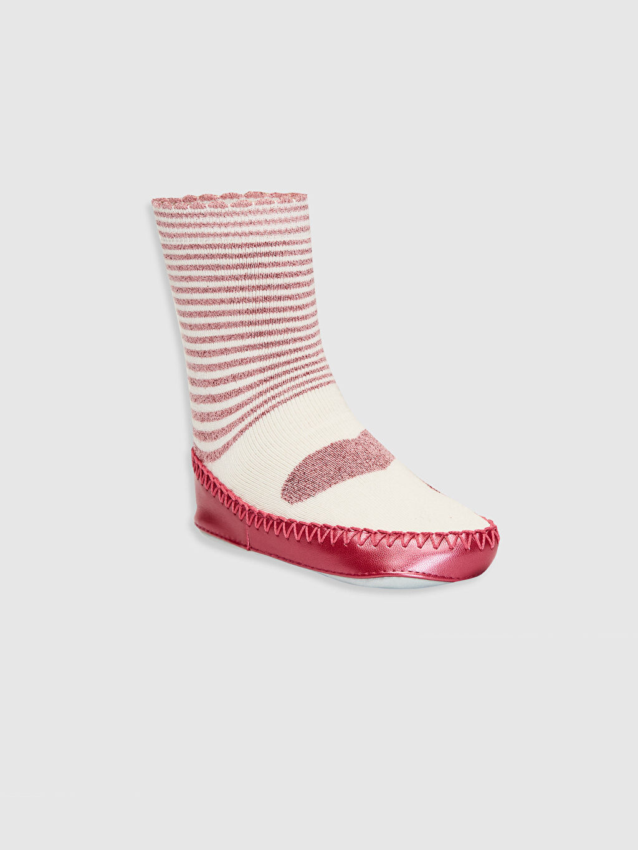 Çok Renkli Kız Bebek Desenli Ev Çorabı 9WH812Z1 LC Waikiki
