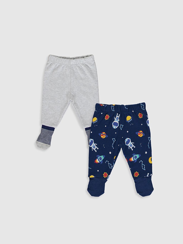 Lacivert Erkek Bebek Çoraplı Pijama Alt 2'li 9WI184Z1 LC Waikiki