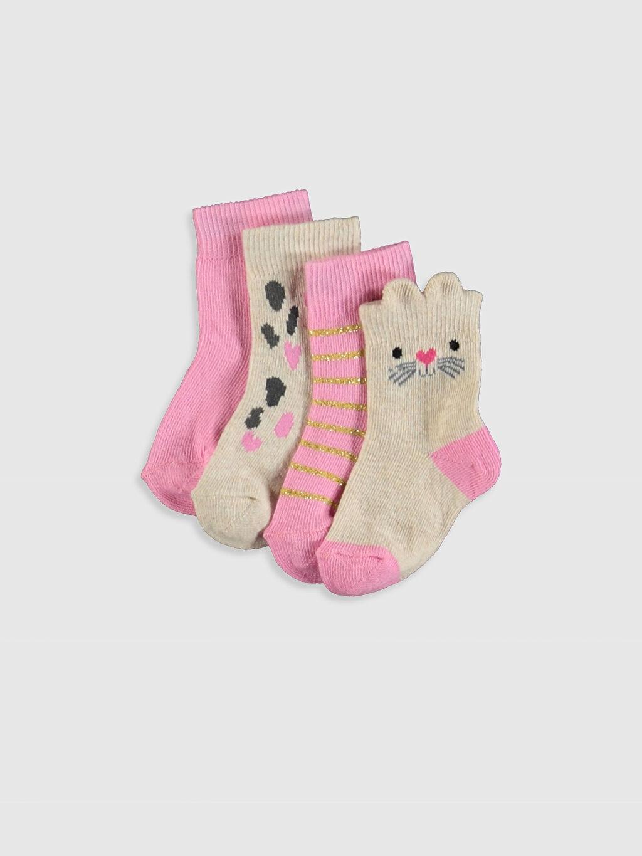 Çok Renkli Kız Bebek Soket Çorap 4'lü 9WI289Z1 LC Waikiki