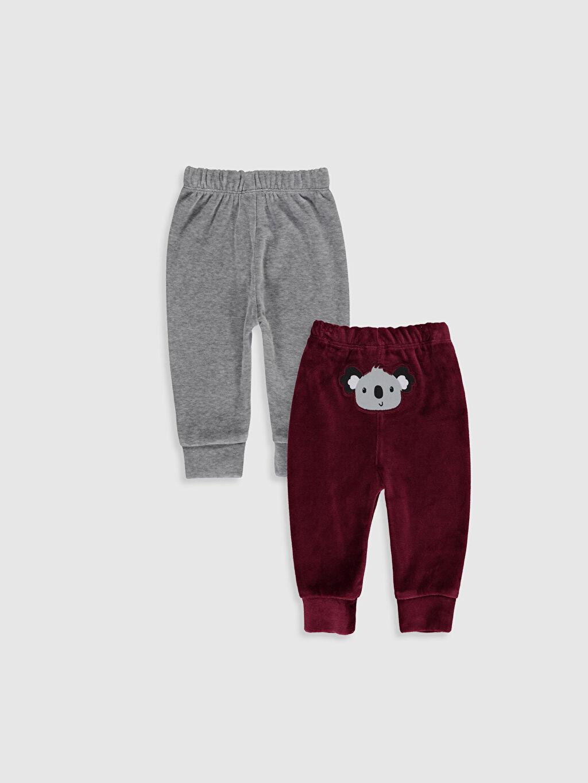 %52 Pamuk %48 Polyester Standart Pijamalar Erkek Bebek Kadife Pijama Alt 2'li