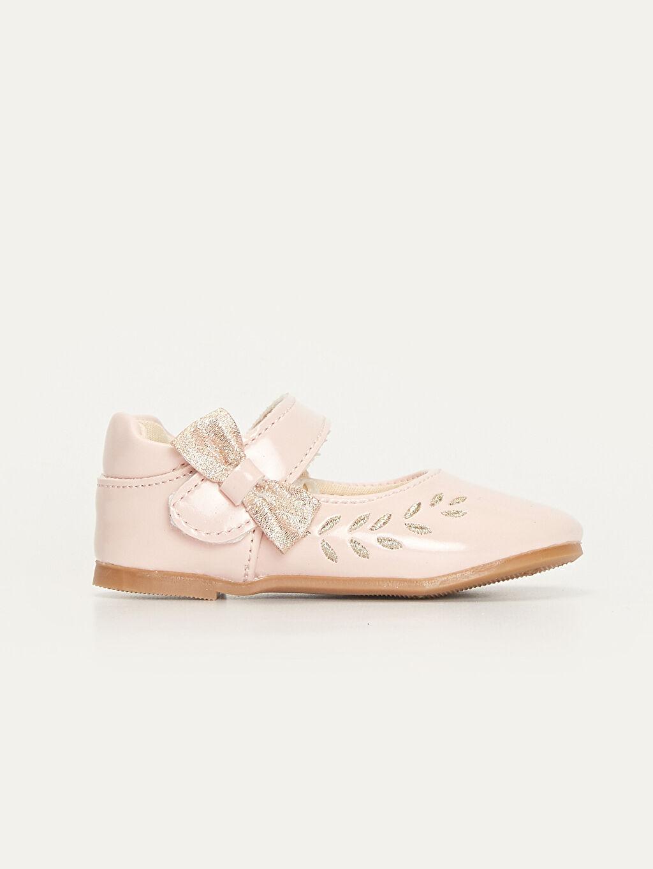 Pembe Kız Bebek Fiyonklu Babet Ayakkabı 9WI452Z1 LC Waikiki