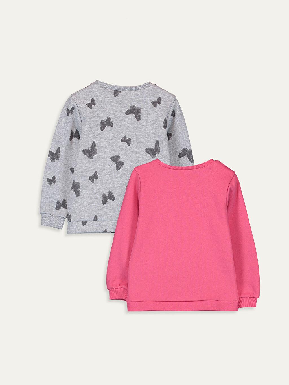 %52 Pamuk %48 Polyester  Kız Bebek Sweatshirt