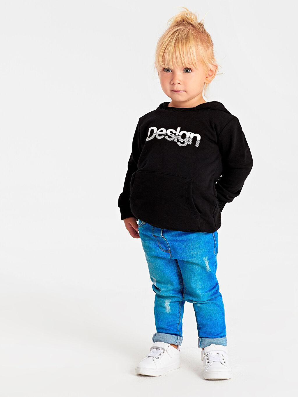 Erkek Bebek Unisex Bebek Yazı Baskılı Sweatshirt