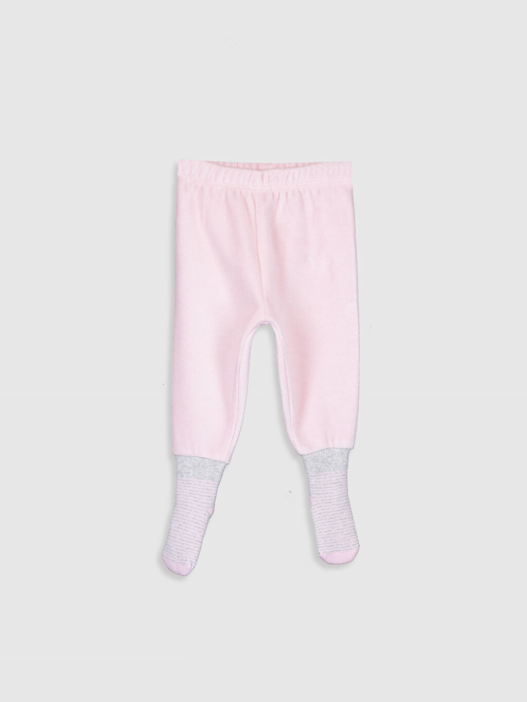 Kız Bebek Kız Bebek Çoraplı Pijama Alt 2'li
