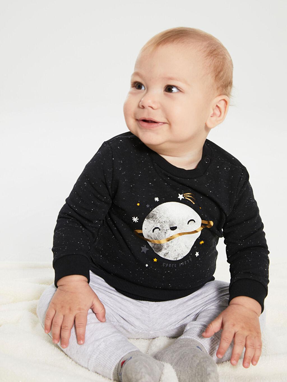 Antrasit Erkek Bebek Tişört 2'li