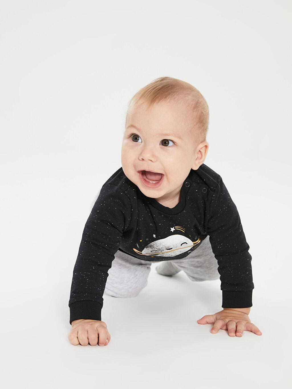 9WK078Z1 Erkek Bebek Tişört 2'li