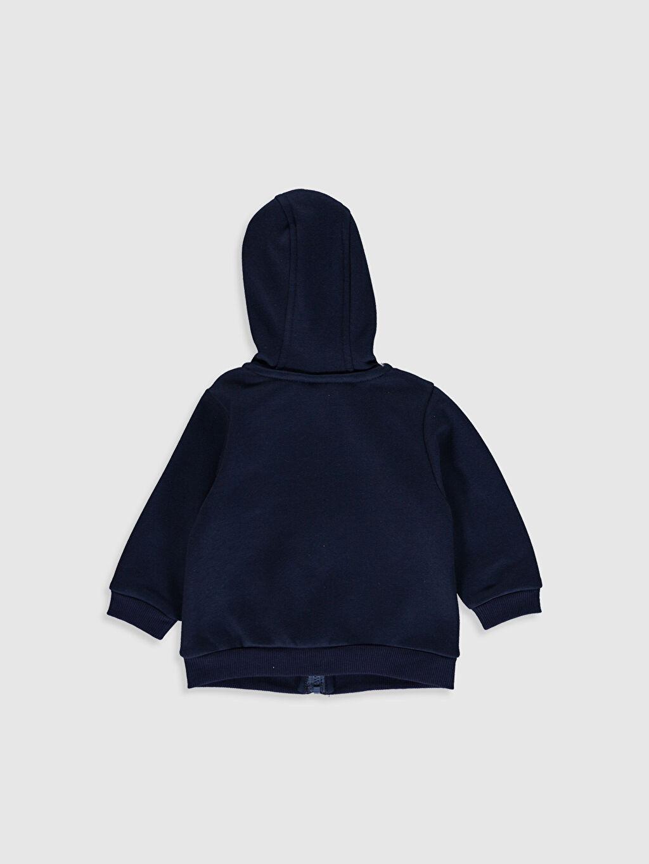 Erkek Bebek Erkek Bebek Baskılı Kapüşonlu Fermuarlı Sweatshirt