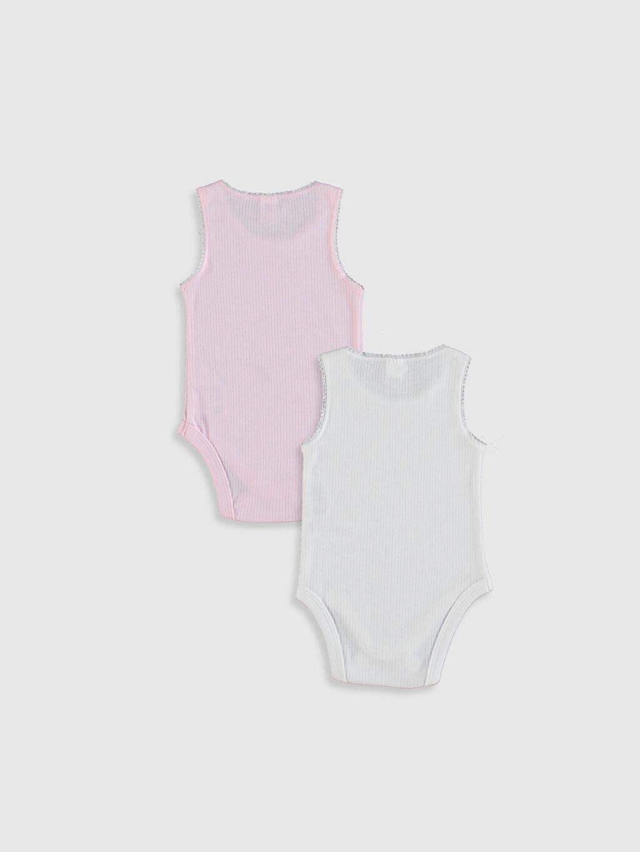 %23 Pamuk %58 Polyester %19 Viskoz  Kız Bebek Çıtçıtlı Body 2'li