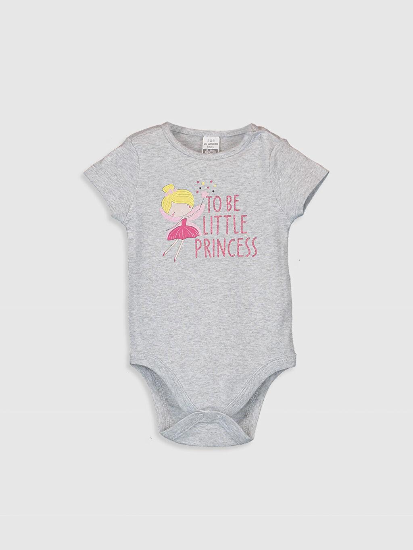 Kız Bebek Kız Bebek Desenli Çıtçıtlı Body 2'li