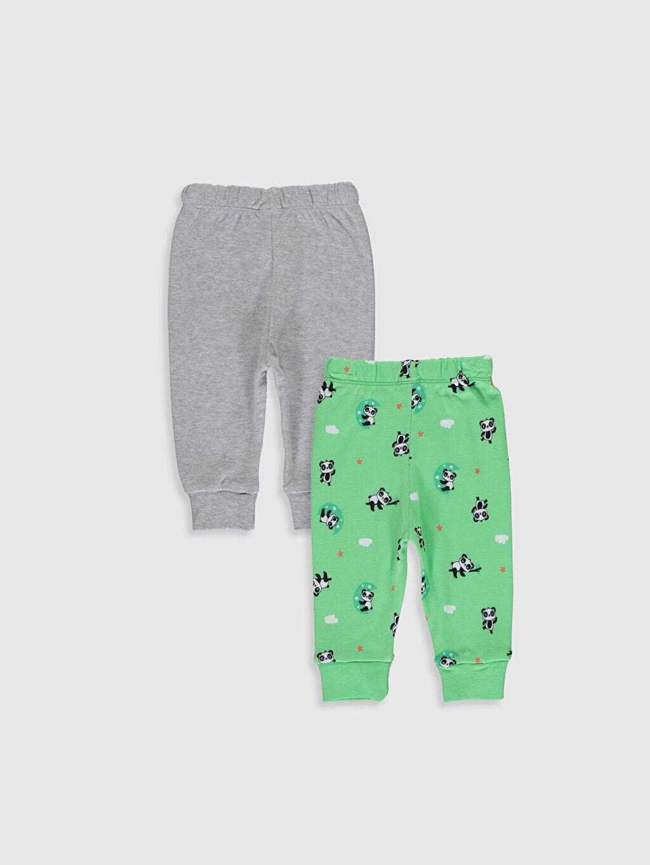 %100 Pamuk Standart Pijamalar Erkek Bebek Pijama Alt 2'li