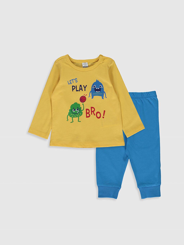 Sarı Erkek Bebek Pijama Takımı 9WK721Z1 LC Waikiki
