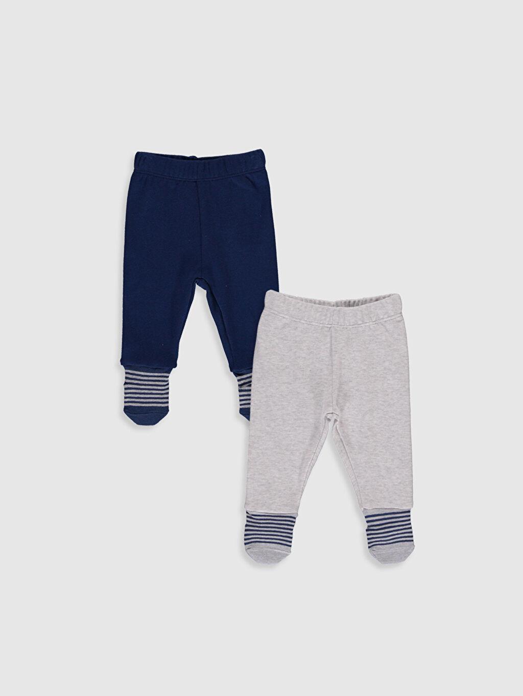 Lacivert Erkek Bebek Çoraplı Pijama Alt 2'li 9WK724Z1 LC Waikiki
