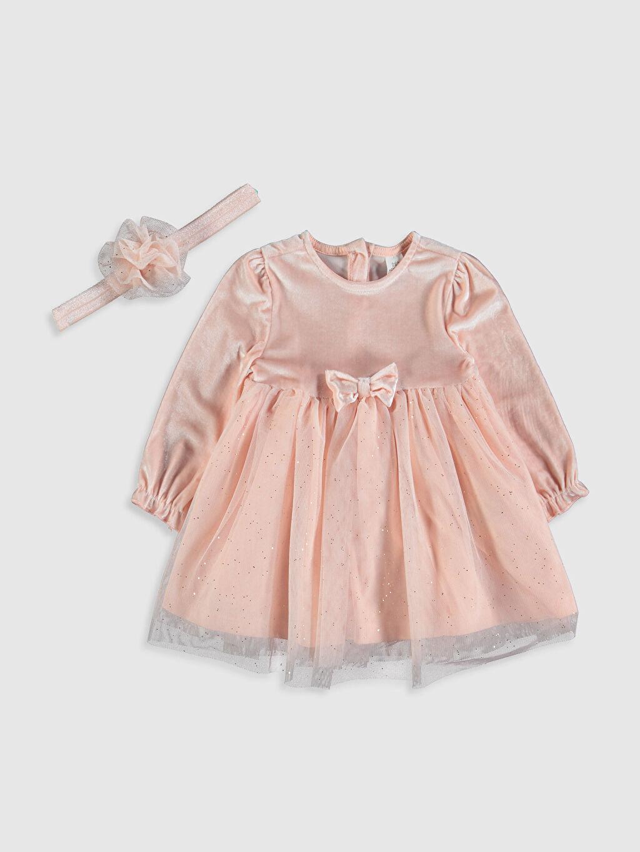 Pembe Kız Bebek Elbise ve Saç Bandı 9WK951Z1 LC Waikiki