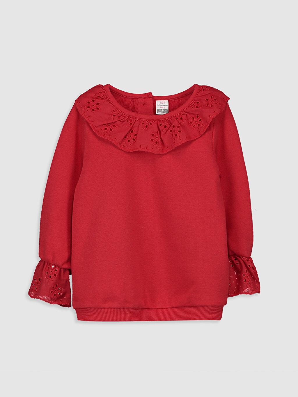 Kırmızı Kız Bebek Sweatshirt 9WK991Z1 LC Waikiki