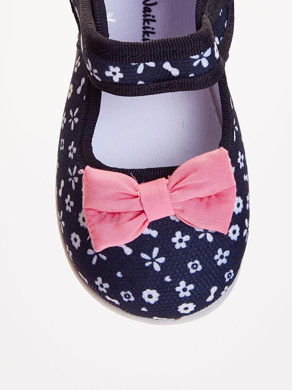 LC Waikiki Siyah Kız Bebek Fiyonk Detaylı Babet Ayakkabı
