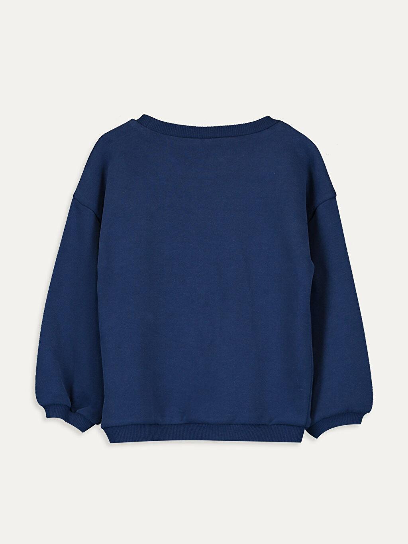 %100 Pamuk  Kız Bebek Pul Payetli Sweatshirt