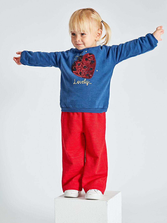Kız Bebek Kız Bebek Pul Payetli Sweatshirt