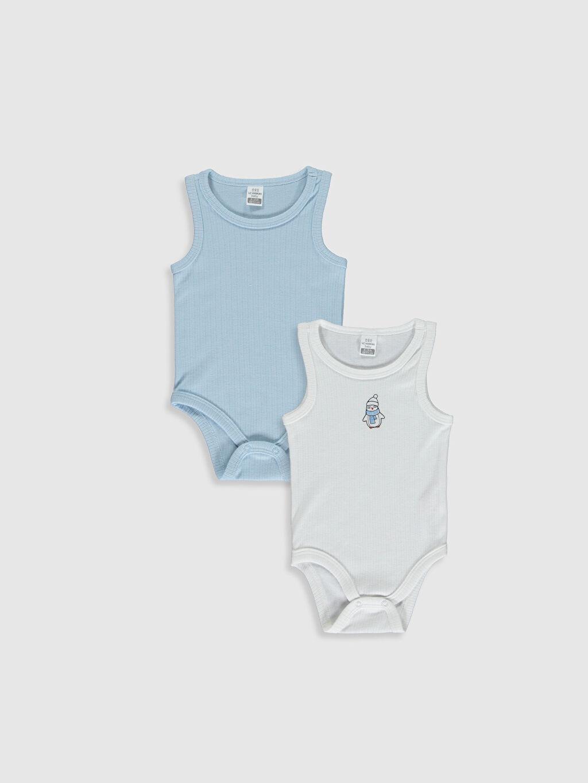 Beyaz Erkek Bebek Çıtçıtlı Body 2'li  9WM240Z1 LC Waikiki