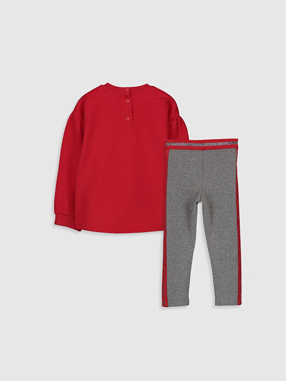 %80 Pamuk %20 Polyester  %43 Pamuk %49 Poliester %4 Metalik iplik %4 Elastan  Kız Bebek Yazı Baskılı Sweatshirt ve Tayt