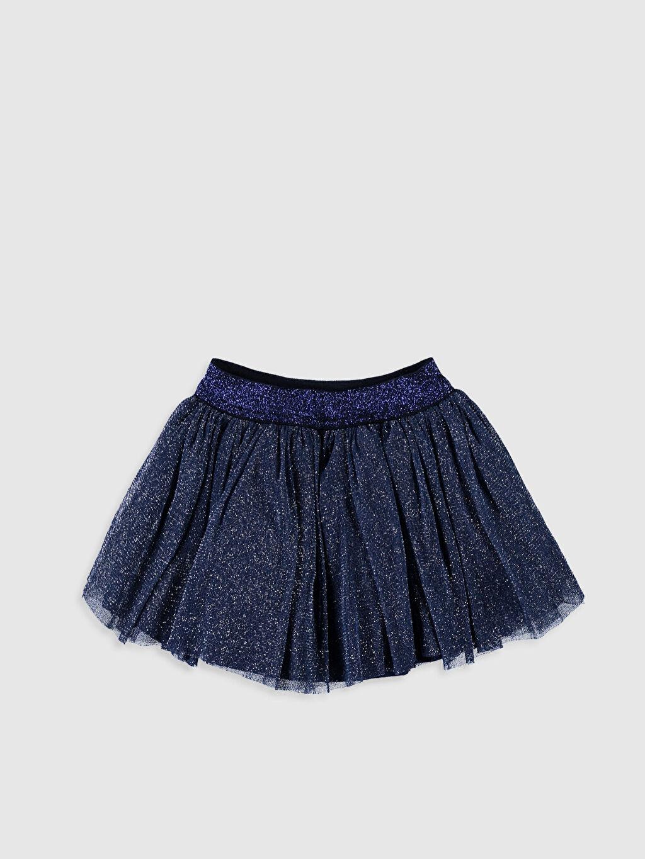 %100 Polyester %100 Pamuk Diz Altı Düz Kız Bebek Tül Etek