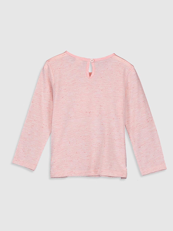 %41 Pamuk %59 Polyester Baskılı Uzun Kol Tişört Bisiklet Yaka Standart Kız Bebek Baskılı Tişört