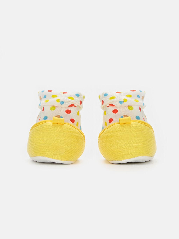 Kız Bebek Minnie Mouse Nakışlı Ev Ayakkabısı