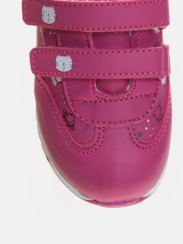 LC Waikiki Pembe Kız Bebek Cırt Cırtlı Spor Ayakkabı
