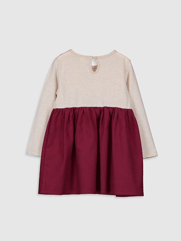 %51 Pamuk %49 Polyester Desenli Kız Bebek Desenli Elbise
