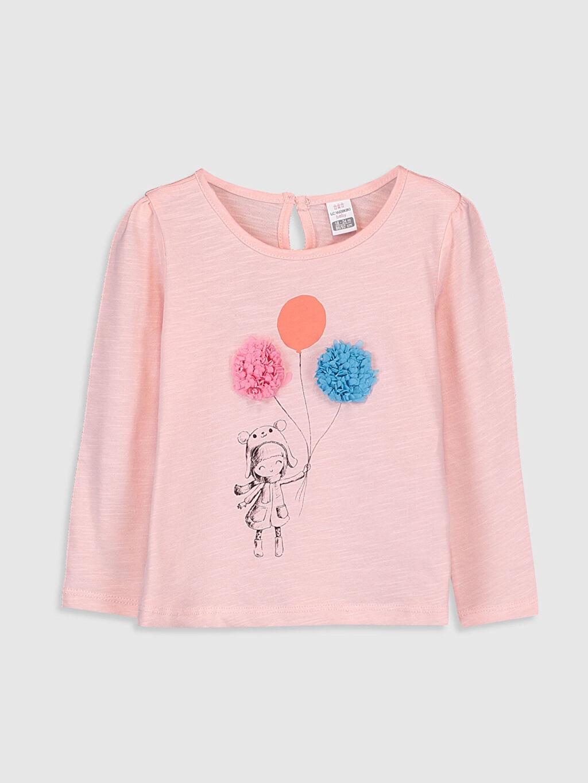 Pembe Kız Bebek Baskılı Pamuklu Tişört  9WN712Z1 LC Waikiki