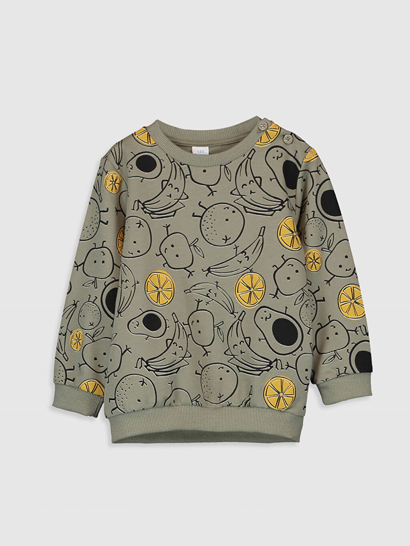 Haki Erkek Bebek Baskılı Sweatshirt 9WN959Z1 LC Waikiki