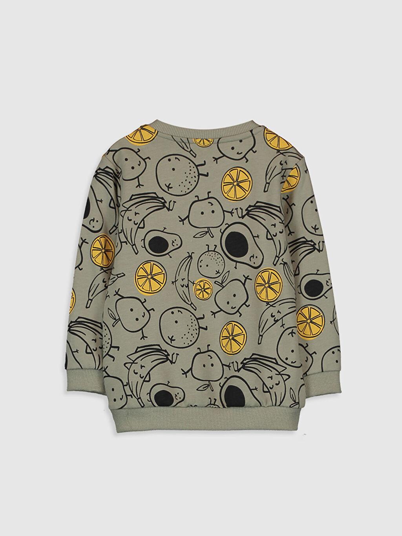 %100 Pamuk  Erkek Bebek Baskılı Sweatshirt