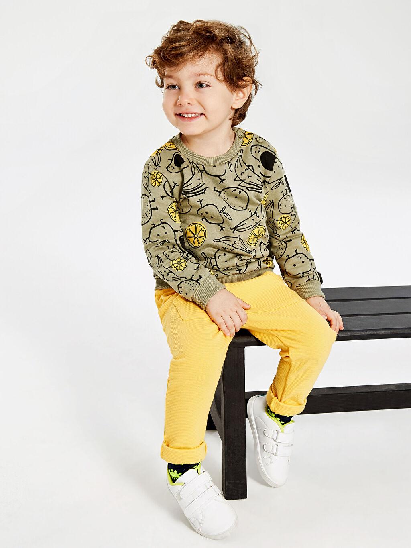 Erkek Bebek Erkek Bebek Baskılı Sweatshirt