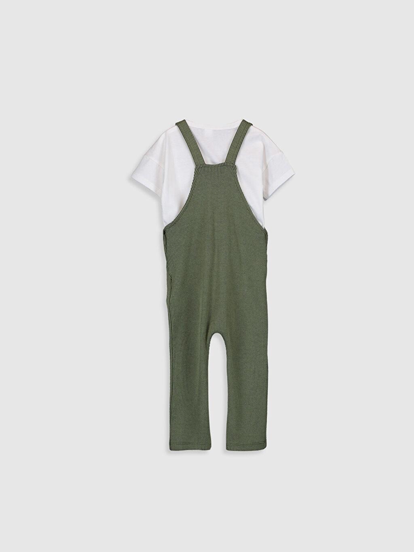 %100 Pamuk  Erkek Bebek Tişört ve Salopet