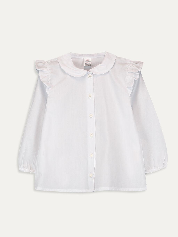 Beyaz Kız Bebek Poplin Gömlek 9WO983Z1 LC Waikiki