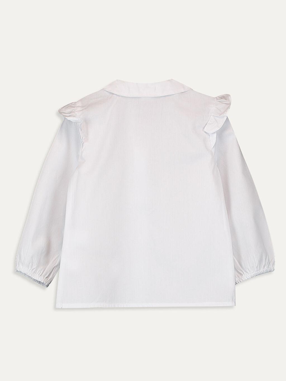 %100 Pamuk  Kız Bebek Poplin Gömlek