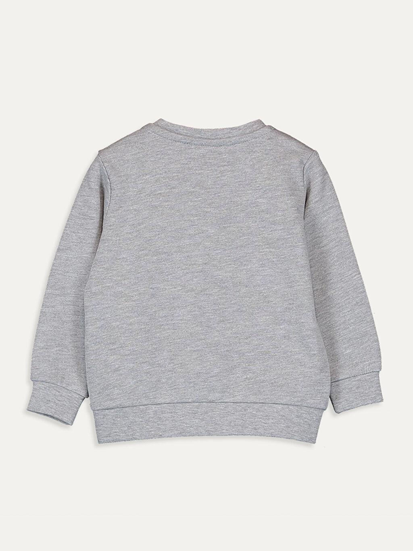 %48 Pamuk %52 Polyester  Erkek Bebek Baskılı Sweatshirt