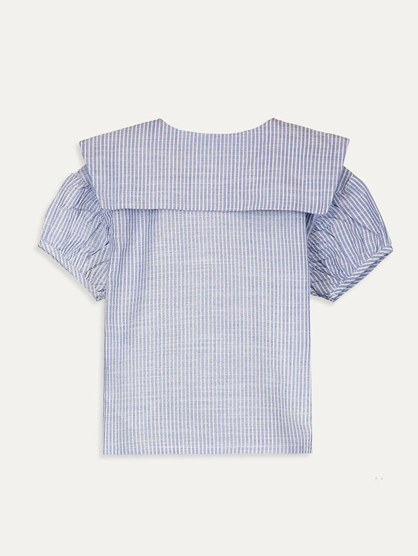 %100 Pamuk  Kız Bebek Çizgili Poplin Gömlek